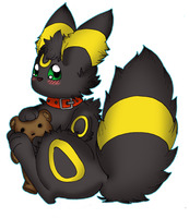 Umbreon + Teddy by Cappies