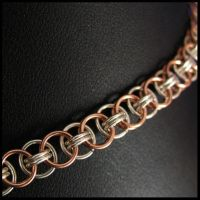 Rose Gold+Sterling Helm Chain by redpandachainmail