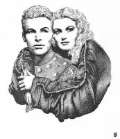 Flash Gordon and Jean Rogers by cwbird