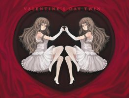Valentine's Day Twins by vmat
