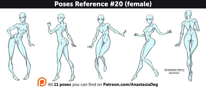 Poses Reference #20 (female) by Anastasia-berry