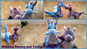 Webkinz Stormy and Twilight Dragons! by Vesperwolfy87