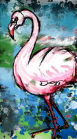 A FLAMINGO N SHIT by SNlCKERS