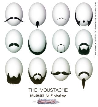 Moustache Brush set by PeterPlastic