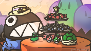 FREE WALLPAPER - Chain Chomp High Tea by PeekingBoo
