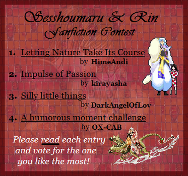 S.and.R Fanfiction- CONTEST by Sesshoumaru-and-Rin