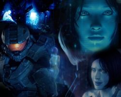 Cortana Tribute (Wallpaper) by UltraViolet1197