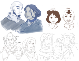 Avatar Doodles I by rare-thing