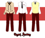 Sugomi Academy male outfits by KirCorn