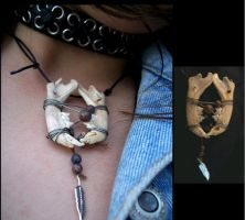 Cat Jaw Necklace by Flesh-Odium