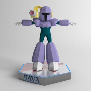 Megaman Vile Low Poly Model WIP by DClaymanX