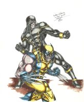 Cyclops and Wolverine 2 by jlbhh1977