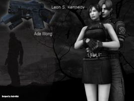 Ada and Leon RE2 by Ambrellich