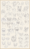 Sketchdump: Animal OC Portraits by Avanii