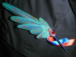 Izzets Weaver of Illusions - painted Featherquill by Ganjamira
