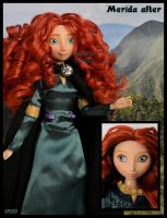 repainted ooak princess merida of dunbroch doll. by verirrtesIrrlicht