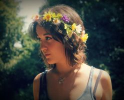 Flowers in her hair by FearOfYou