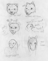 what i can draw so far-headshots by Dominoluv