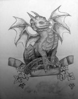Dragon Tattoo sketch by rockgem