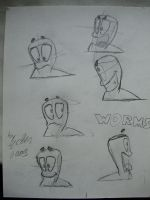 Worms sketch by Ec8er