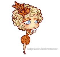 Commission: Hunger Chibi Games #Effie by HeiligerShadowfax