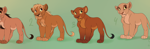 Teenage Lions ADOPTABLES! - CLOSED by EmilyJayOwens