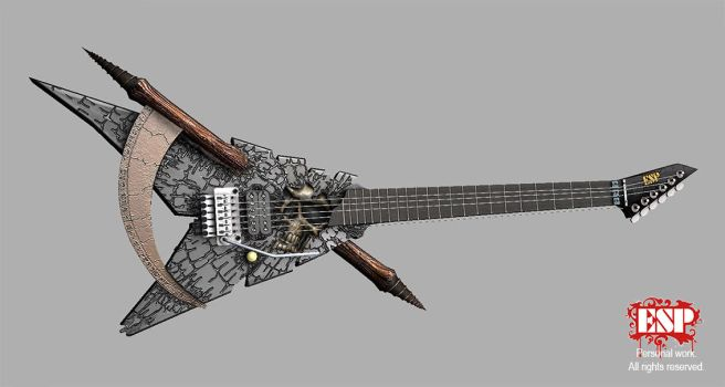 ESP Shinigami guitar 01 by anotheryou00