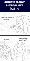 Sonic day 1 by Klaudy-na