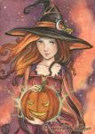 Magic Pumpkin ACEO by MeredithDillman
