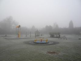 Playground in the frosty fog by Android18a