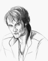 Sketch of Actor Stephen Moyer by GwenStacy