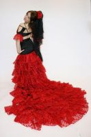 red flamencos dress by estilicious