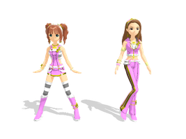 MMD - Pink Dimond Yayoi and Iori Download by Rozz-a