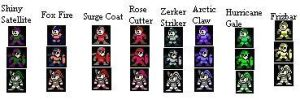 Mega Man 11 Weapon Sprites by pseudorider050