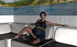 pregnant Lex on couch by Stormr