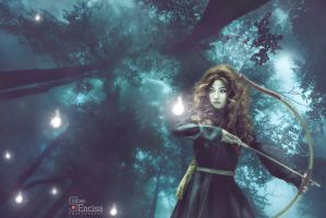 Azeleia as Merida from the disney movie BRAVE by azeleia