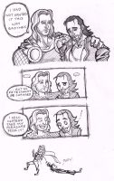 Thor x Loki Avengers mild spoiler but not really by puking-mama