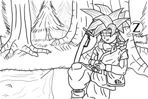 Crono at Rest - Line Work by jornas