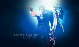 Leon X Claire wallpaper by VickyxRedfield