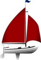 Vexel Red Sailboat by anexemines