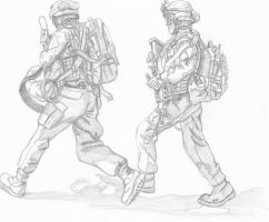 soldiers run by Steel123