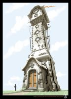 Temple tower by -jove