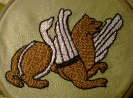 Bayeux embroidery Griffon by sleepyhamsteri