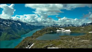 Gjende and Jotunheimen by MYTHAAGOO