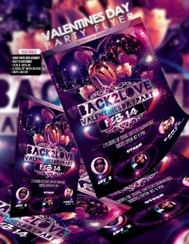 PSD Valentines Day Party Flyer Template by retinathemes