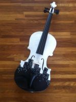 Fall~ hand painted violin by Fallmusic