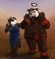 Panda Family by yapi