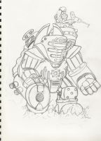 Big Daddy Cannoneer by HEAVENSENT-SOLDIER