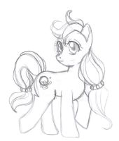 MLP - Rosy Sun Sketch by Wildnature03