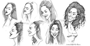 Sketches from the Tube by PAllora